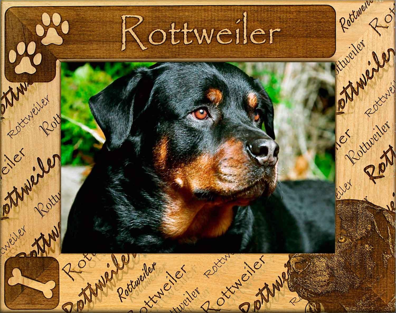 Rottweiler Dog Frame, Custom Wooden Frames for Rottweilers
